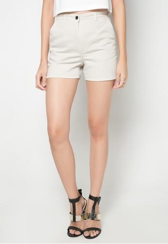 Dolce & Gabbana beige High-waist Shorts DA093AA03TUMPH_1