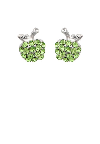 Glamorousky green Glistening Apple Earrings with Green Austrian Element Crystals 58C56ACDCD99A2GS_1