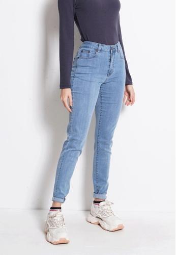 Fave blue Slim Fit Long Jeans B0F0FAA28BD815GS_1