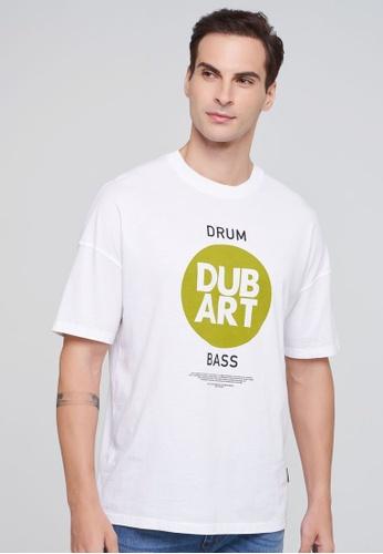 Sisley white Printed T-shirt C7B58AA2859F00GS_1