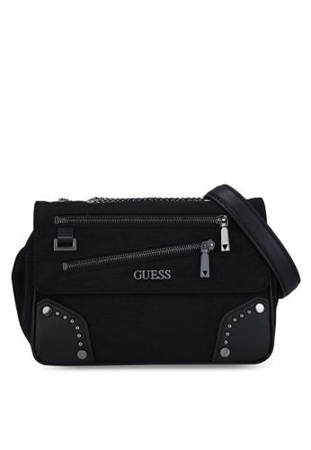 Guess black Frankie Convertible Crossbody Bag 60877AC8A8DC62GS_1