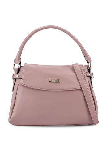 Unisa pink Faux Leather Convertible Satchel 2D4C4AC7C7439DGS_1