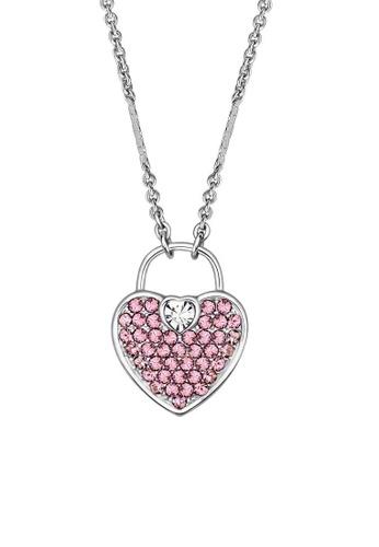 ADORA Swarovski Heart Pendant Necklace AD365AC12RWDHK_1