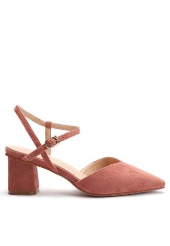 Twenty Eight Shoes 尖頭絨面高踭鞋053-5 F5284SH2A7EC73GS_1