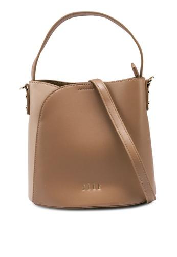 ELLE brown Carmel Bucket Bag 7711BACFE60528GS_1