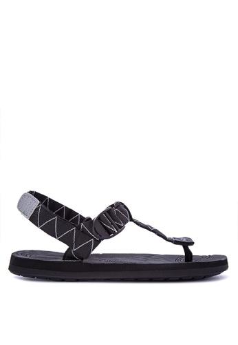 Krooberg black Radial Duo Sandals 47962SHBC4F1C7GS_1