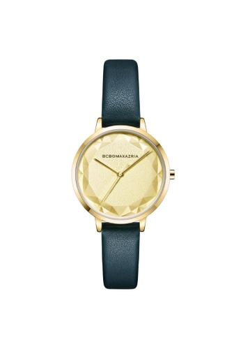 BCBG green BCBGMAXAZRIA BG51136007 Gold Tone and Green Leather Watch D7BDFACE031077GS_1