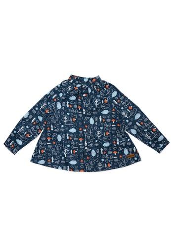 Vauva blue Vauva Girls Fantasy Forest Long Sleeves Top - Blue 60C97KAC2362A8GS_1