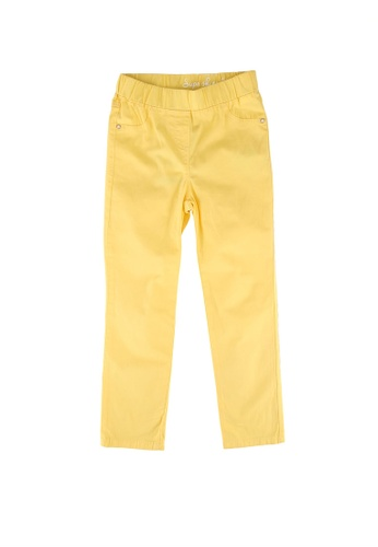 LC Waikiki yellow Girl's Gabardine Trousers CCB29KAD5960AAGS_1