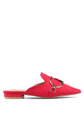 Nose 紅色 麂皮穆勒鞋 80650SH7208E98GS_1