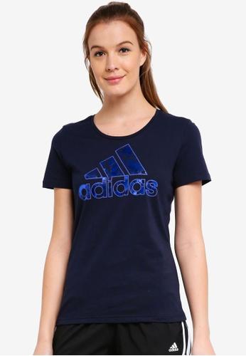 adidas blue adidas foil bos tee 37EBDAA094C348GS_1