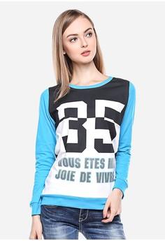 LGS blue LGS - Regular Fit - Kaos Wanita - Putih Biru - Lengan Panjang 6594076b49