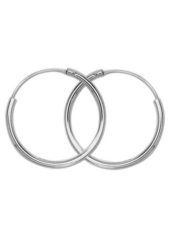 SC Tom Silver silver Curve line design Loop Earring SC872AC95IJOPH_1