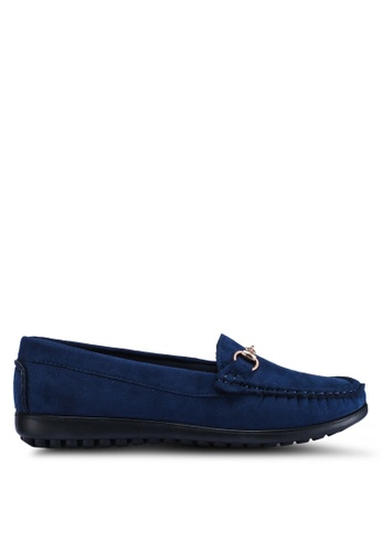 Louis Cuppers 海軍藍色 休閒樂福鞋 E6288SHB9AF994GS_1