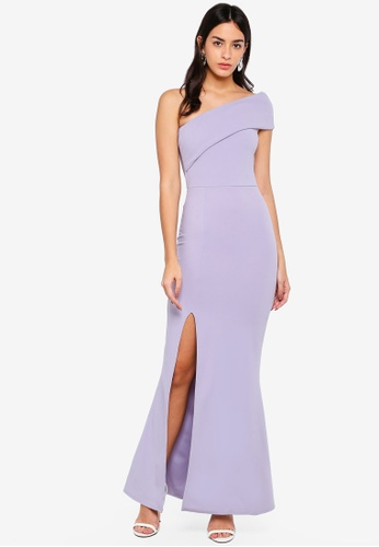 MISSGUIDED 灰色 One Shoulder Maxi Dress 4DD97AA8832E9FGS_1