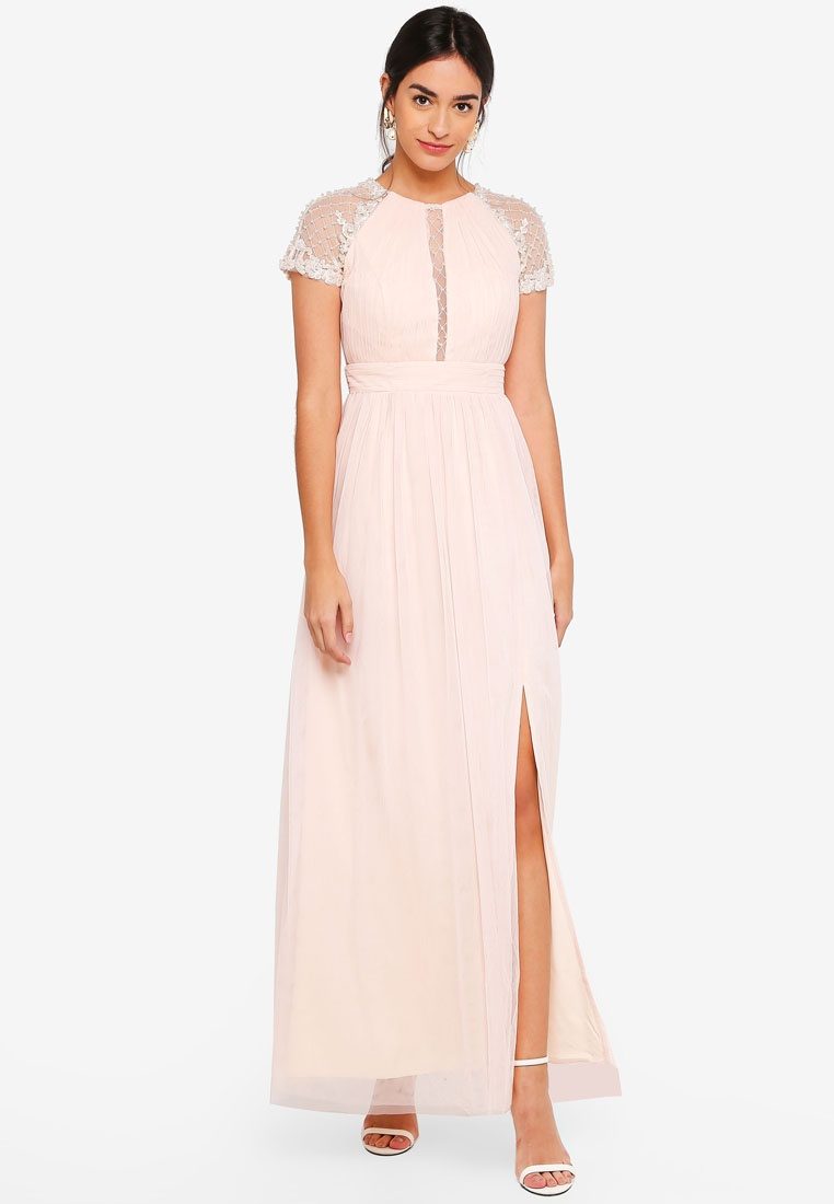 Little Nude Beadwork Mistress Maxi Anna Dress nqzxwpnTY