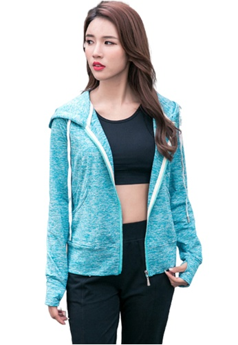 B-Code green ZYG3094-Lady Quick Drying Running Fitness Yoga Sports Jacket -Green 8C186AAB4A34E0GS_1