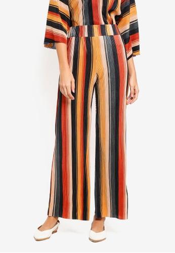 River Island multi Pleated Stripe Jersey Trouser 180CBAAB321773GS_1