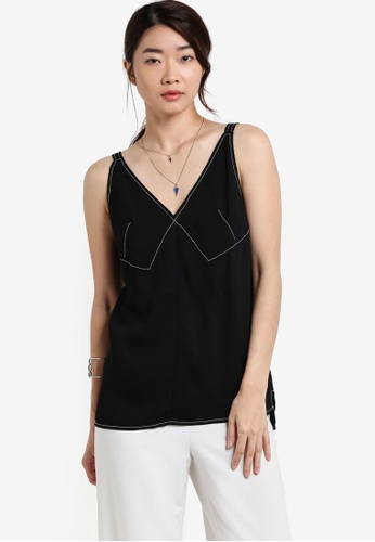 ZALORA black Collection Contrast Stitch Top 73601AA7AB9CD3GS_1