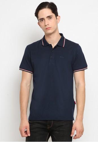 Police Denim navy Comfort Polo Shirt 3F4D1AA5B6B0C4GS_1