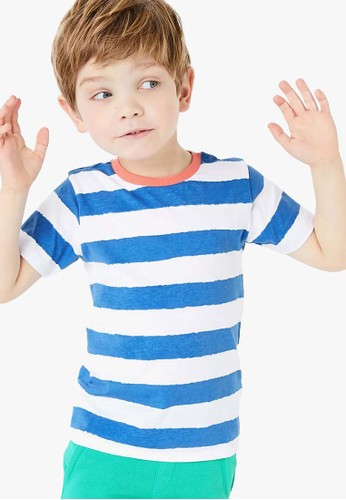 MARKS & SPENCER multi Pure Cotton Striped T Shirt 9929FKAA142905GS_1