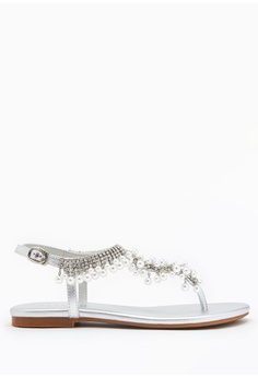 8434e213ff93 PAZZION silver Embellished Tstrap Sandals 6BE4DSHCD95E19GS_1