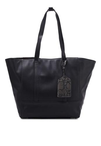 ZALORA black Medium Size Tote With Detachable Cardholder 49373AC1506CC4GS_1