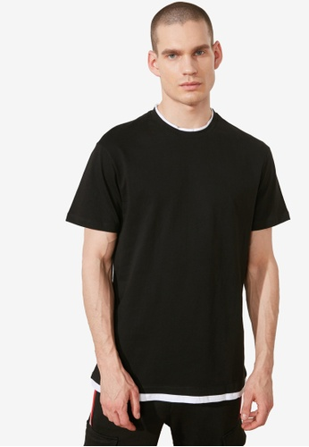 Trendyol black Crew Neck T-Shirt 0DB79AAED22619GS_1