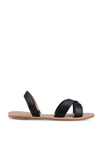 Rubi 黑色 Everyday Banting Crossover Sandal 19884SHCF7A4EEGS_1