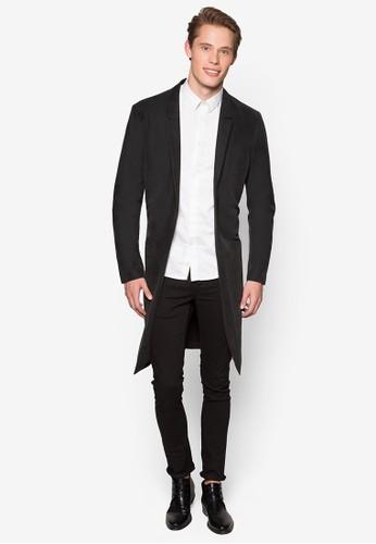 Street Tailor 簡約長版西裝外套, 服飾, esprit holdings limited外套