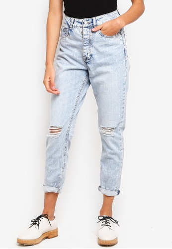 Supre blue The Mom Ripped Jeans C6201AAA499E53GS_1