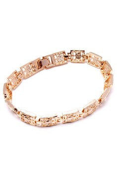 Anne Cleo 18k Plated Heart Bracelet