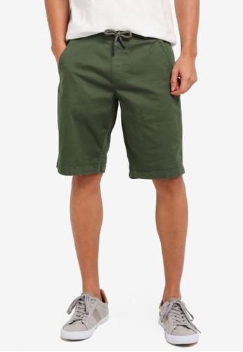 ESPRIT 綠色 Woven Regular Shorts 4DEE0AA933F661GS_1