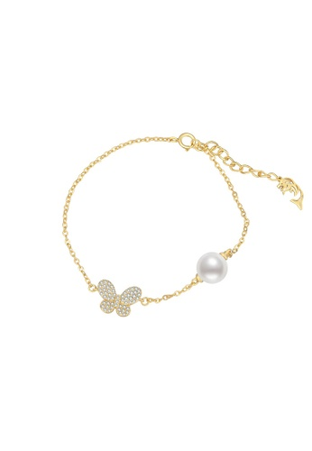 Pearly Lustre gold Pearly Lustre Wonderland Freshwater Pearl Bracelet WB00033 18299AC670E646GS_1