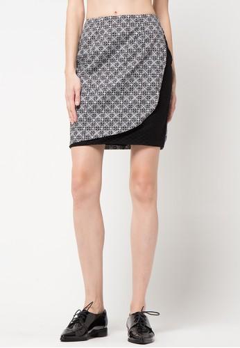 Bateeq black Printed Regular Skirt BA656AA46WQRID_1