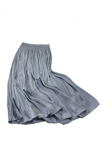 Twenty Eight Shoes grey VANSA Pearly Yarn Pleated Skirt VCW-Sk18588 BB2B7AA3E05FC7GS_1