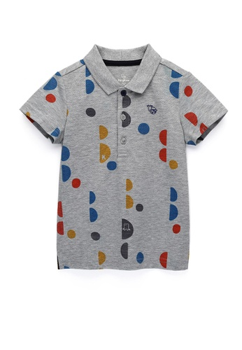 Kingkow grey Cotton Polo Shirt 2-4 years 7CBD9KA3370F02GS_1