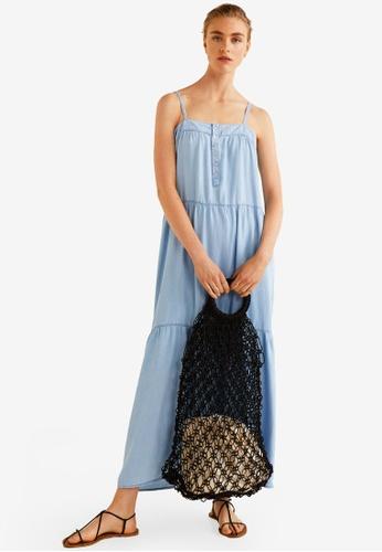 Mango blue Soft Denim Dress ABB34AAF8674FAGS_1