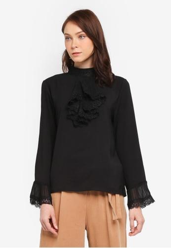 BYN black Lolita Style Shirt 75C58AA0F2AE74GS_1