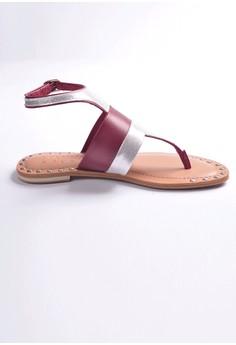 Manna Soles' Ruth Rose Studded Sandals