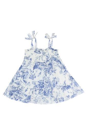 GAP white Strappy Ruffle Short Dress F6A9AKA24E3200GS_1