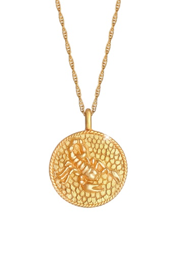 ELLI GERMANY gold Zodiac Sign Scorpio Coin Necklace A8BE8AC9850BF7GS_1
