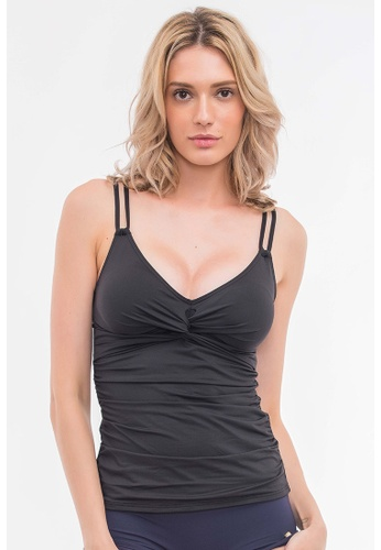 Sunseeker black Solids D Cup Tankini Top BB80EUS3F42DD2GS_1