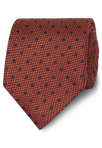 T.M. LEWIN orange T.M.Lewin Premium Orange Large Spot Silk Tie 223F8ACD7183C1GS_1