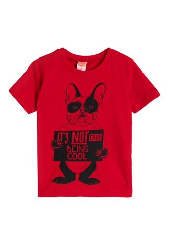 KOTON red Short Sleeve T-Shirt 56E82KA37D7129GS_1