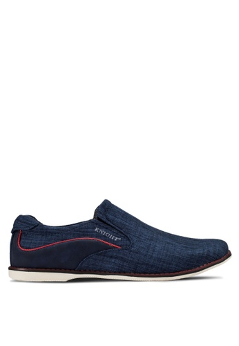 Knight blue Slip Ons Shoes KN875SH00RGHMY_1