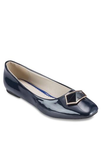 Cresprit 台北istina 五邊形扣環平底鞋, 女鞋, 芭蕾平底鞋