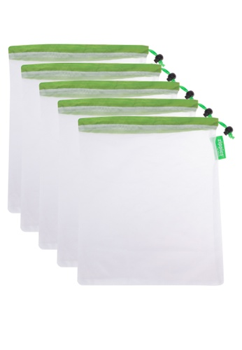 Zippies white Zippies Reusable Mesh Produce Bags 5s DC4D0HLBB5B08DGS_1