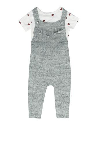FOX Kids & Baby grey Baby Girl Overalls 00E8CKAC227A6CGS_1
