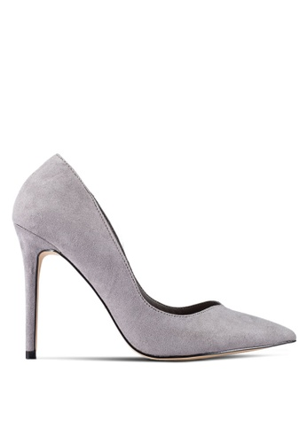 Miss Selfridge grey Grey Lucky V Point Heeled Courts MI665SH0RQJBMY_1